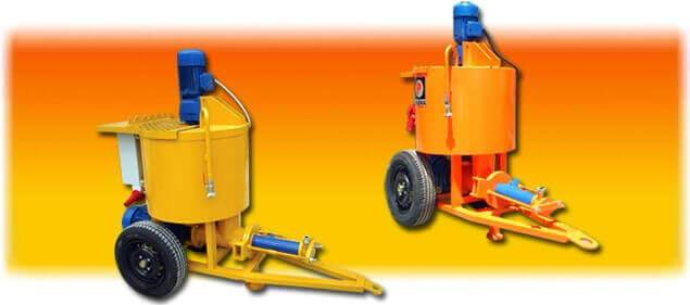 grout pump with mixer