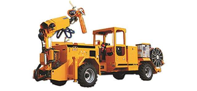 shotcrete truck with boom